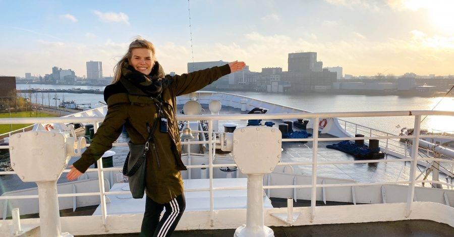 SS Rotterdam dek foto king of the world
