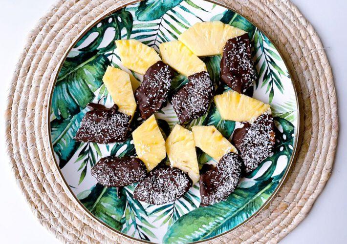 ananas met chocolade
