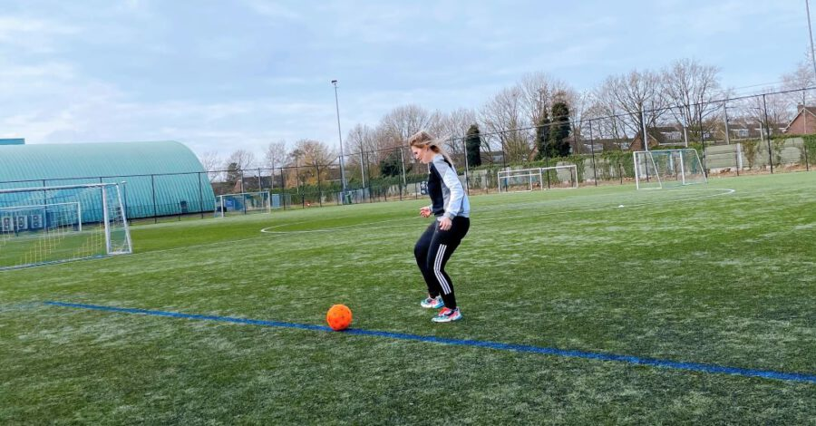 voetballen actie